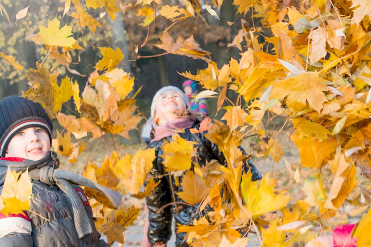 Børn bag efterårsblade, PPR